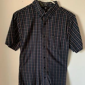 Volcom plaid button-up shirt